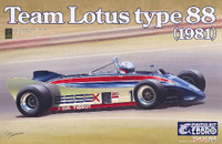 1981 Lotus Type 88 Team Lotus F1 Race Car 1/20 Ebbro