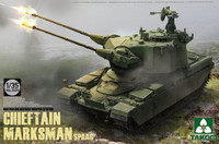 British Air-Defense Weapons System Chieftain Marksman SPAAG Tank 1/35 Takom