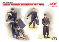 German Armored Vehicle Crew 1941-42 (4 w/Cat) 1/35 ICM Models