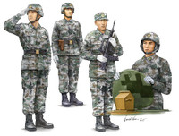 PLA Chinese Army Tank Crew Figure Set (6) 1/35 Trumpeter