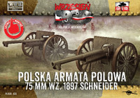 WWII 75mm Wz1897 Schneider Polish Field Cannon (2) 1/72 First To Fight Models
