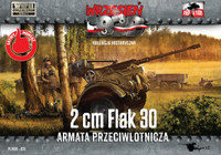 WWII 2cm Flak 30 Gun (2) 1/72 First To Fight Models