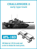 Challenger II Early Track Set (160 Links) 1/35 Friulmodel