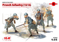 French Infantry 1916 (4) 1/35 ICM Models