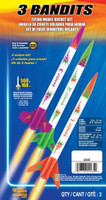 3 Bandits Model Rocket Kit (3 Kits Skill Level E2X) Estes Rockets