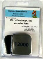 "2""x2"" Micro Finishing Cloth Abrasive Pads (6 grits) Hobby Stix"
