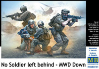 No Soldier Left Behind (MWD Down) US Army Soldiers (4) & Wounded Dog 1/35 Masterbox