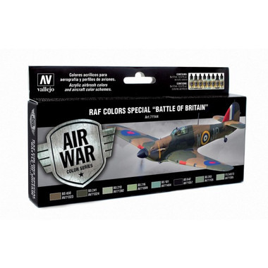 RAF Colors Special Battle of Britain Model Air Paint Set (8 Colors) 17ml Bottles Vallejo Air War Color Series