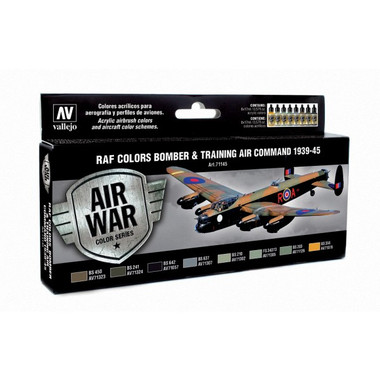 RAF Colors Bomber & Training Air Command 1939-1945 Model Air Paint Set (8 Colors) 17ml Bottles Vallejo Air War Color Series