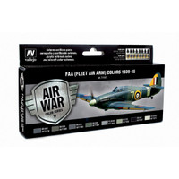 FAA (Fleet Air Arm) Colors 1939-1945 Model Air Paint Set (8 Colors) 17ml Bottles Vallejo Air War Color Series