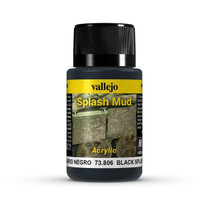 Black Splash Mud Weathering Effect 40ml Bottle Vallejo
