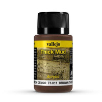 Brown Thick Mud Weathering Effect 40ml Bottle Vallejo