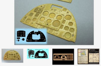 Supermarine Spitfire Mk 1a Instrument Panel (Photo-Etch & Decal) for ARX 1/24 Airscale