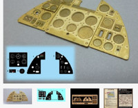 Hurricane Mk 1 Instrument Panel (Photo-Etch & Decal) for ARX 1/24 Airscale