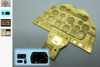 P-51D Mustang Instrument Panel (Photo-Etch & Decal) for ARX 1/24 Airscale