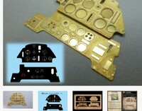 Messerschmitt Bf 109E Instrument Panel (Photo-Etch & Decal) for ARX 1/24 Airscale