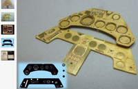 Focke Wulf Fw 190 Instrument Panel (Photo-Etch & Decal) for ARX 1/24 Airscale