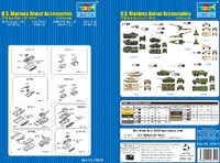 US Marines Armor Accessories Set 1/350 Trumpeter