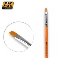 Size 4 Synthetic Flat Brush Ak Interactive