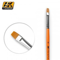 Size 6 Synthetic Flat Brush Ak Interactive