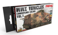 WWI Vehicles Camouflage Colors Vol.1 Acrylic Paint Set (6 Colors) 17ml Bottles Ak Interactive