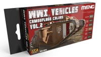 WWI Vehicles Camouflage Colors Vol.2 Acrylic Paint Set (6 Colors) 17ml Bottles Ak Interactive