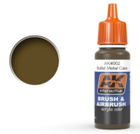 Bullet Metal Case Acrylic Paint 17ml Bottle Ak Interactive