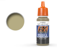 Buff Light Shade Acrylic Paint 17ml Bottle Ak Interactive