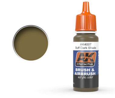 Buff Dark Shade Acrylic Paint 17ml Bottle Ak Interactive