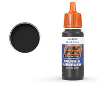 Black Grey Acrylic Paint 17ml Bottle Ak Interactive