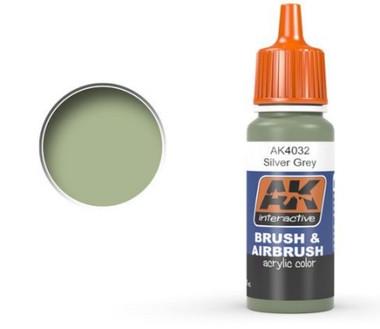 Silver Grey Acrylic Paint 17ml Bottle Ak Interactive