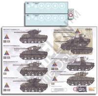 Sandbagged Shermans of the 14th Armored Division M4A3E8s (76) Ws 25th & 47th Tank Battalions 1/35 Echelon