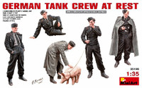 German Tank Crew at Rest (5 w/Pig) 1/35 Miniart