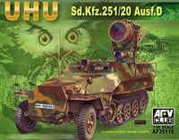 UHU SdKfz 251/20 Ausf D Infrared Searchlight Carrier 1/35 AFV Club