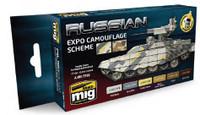 Russian Expo Camouflage Scheme Acrylic Paint Set AMMO of Mig Jimenez