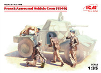 French Armored Vehicle Crew 1940 (4) 1/35 ICM Models