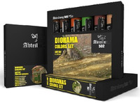 Dioramas Weathering Oil Paint Set (6 Colors) 20ml Tubes Abteilung 502