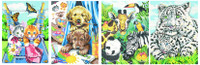 "Friendly Animals Variety Pack Pencil by Number (4 9""x12"") Dimensions Paint by Number"