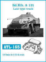 SdKfz 8 12t Late Track Set (110 Links) 1/35 Friulmodel