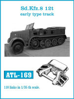 SdKfz 8 12t Early Track Set (110 Links) 1/35 Friulmodel