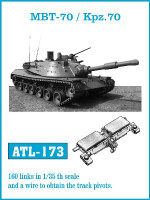 MBT70/Kpz70 Track Set (160 Links) 1/35 Friulmodel