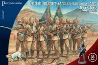 British Infantry in Afghanistan & Sudan 1877-85 (36) 28mm Perry Miniatures