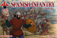 Spanish Infantry XVI Century Set #1 (40) 1/72 Red Box Figures