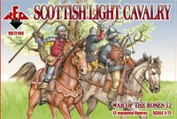 War of the Roses: Scottish Light Cavalry (12 Mtd) 1/72 Red Box Figures