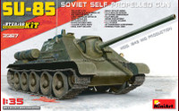 Soviet Su85 Mod 1943 Mid Production Self-Propelled Gun Tank w/Full Interior 1/35 Miniart Models