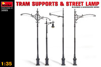 Tram Supports (3) & Street Lamp (1) 1/35 Miniart Models