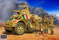 WWII Italian Military Crew (5) 1/35 Master Box Models