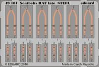 Seatbelts RAF Late Steel (Painted) 1/48 Eduard