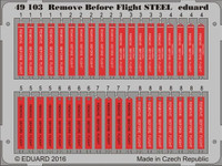 Remove Before Flight Steel (Painted) 1/48 Eduard