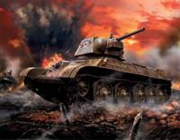 WWII Soviet T34/76 Mod 1943 Medium Tank (Snap) 1/100 Zvezda